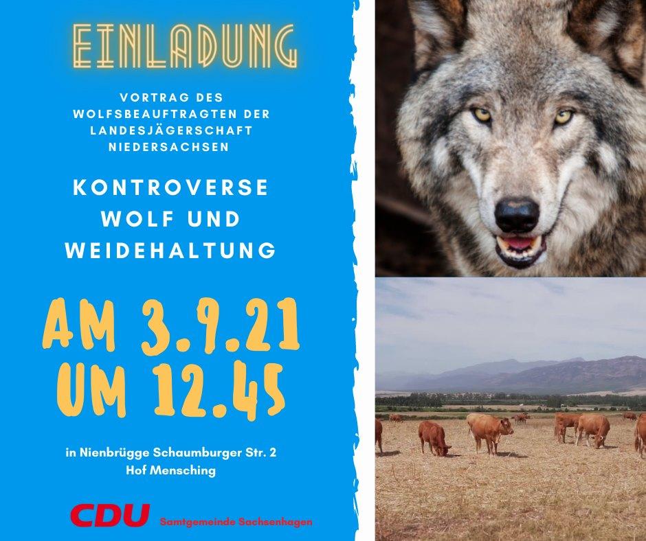 Einladung Vortrag Wolfsbeauftragter